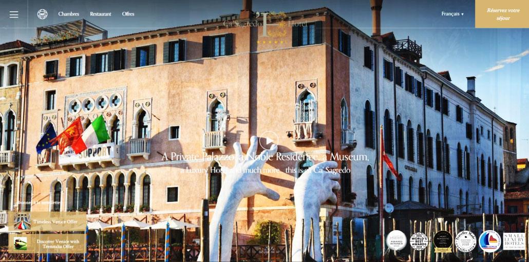 New exhibition of the artist Gianni Candido at palazzo Ca'Sagredo - Venezia - Italy