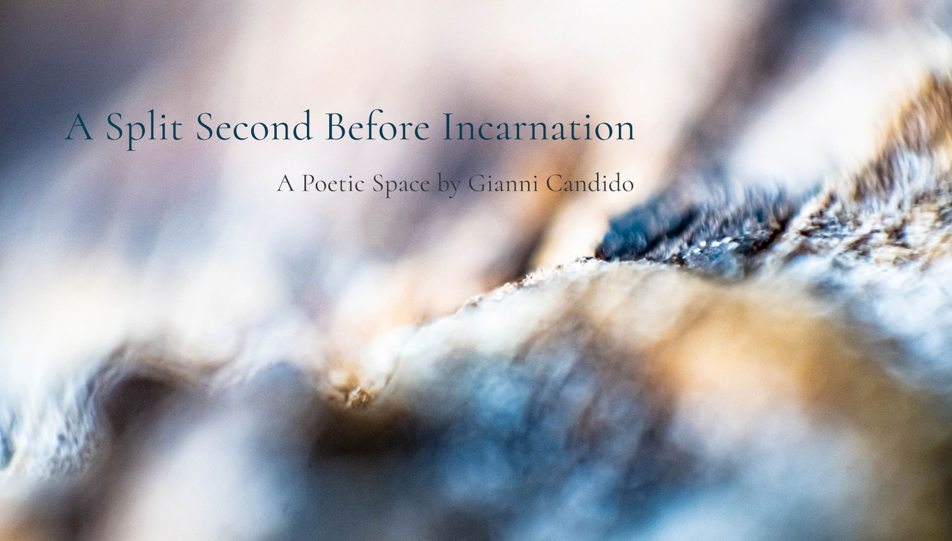 A split Second Before Incarnation- A Poetic Space by Gianni Candido